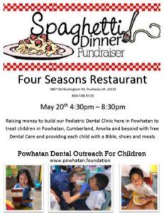 May 20: Spaghetti Dinner Fundraiser